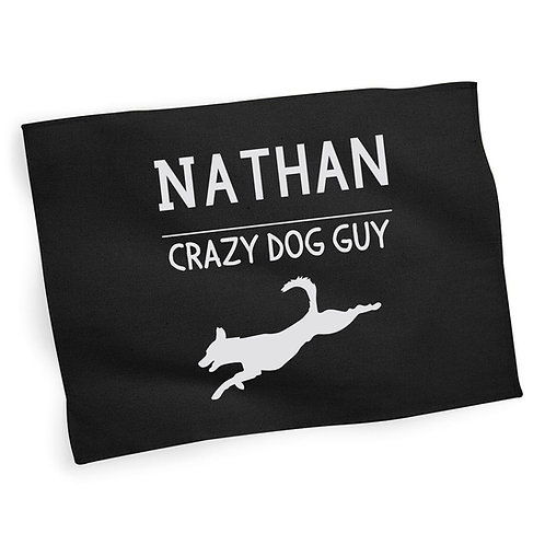 Personalised Crazy Dog Person Tea Towel