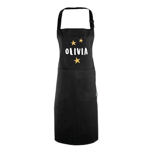 Personalised Name and Stars Apron (with pocket)