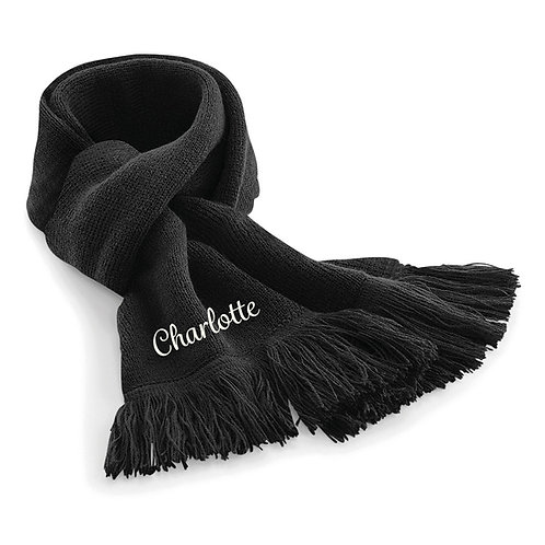 Personalised Name/Initial Classic Knitted Scarf
