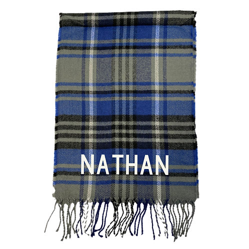 Personalised Name Check Scarf
