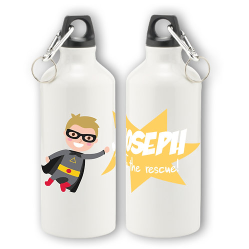 Personalised Super Boy Aluminium Water Bottle