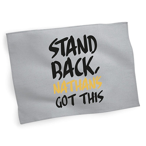 Personalised Stand Back Tea Towel