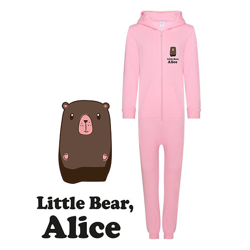 Personalised Little Bear Kids Onesie