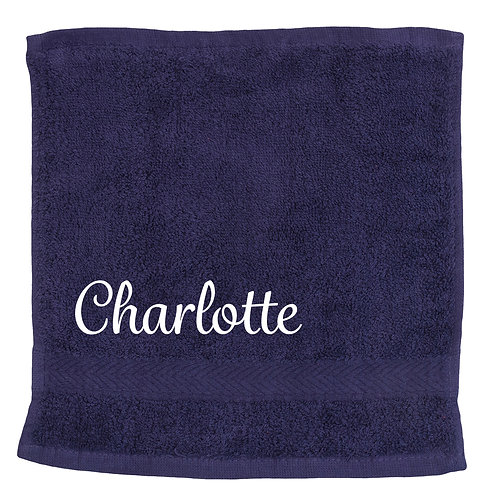 Personalised Name Luxury Face Cloth