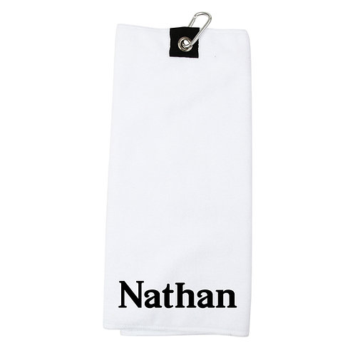 Personalised Name Golf Towel
