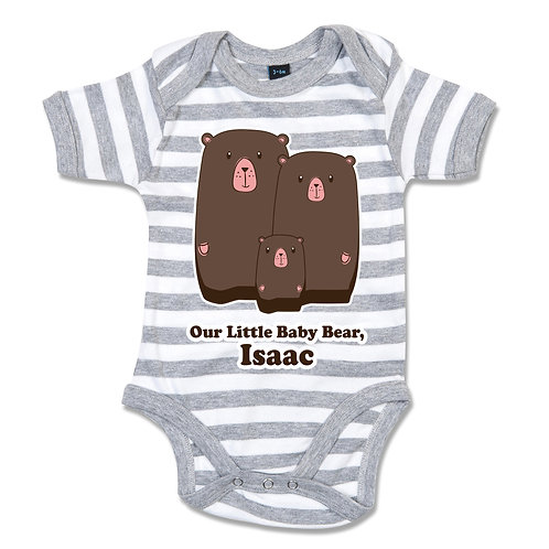 Personalised Family Bear Babygrow