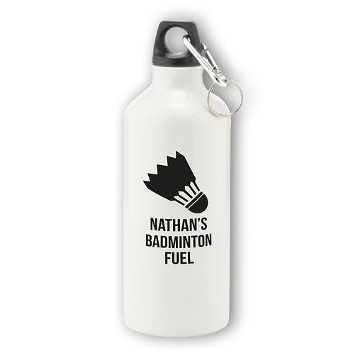 Personalised Badminton Aluminium Water Bottle
