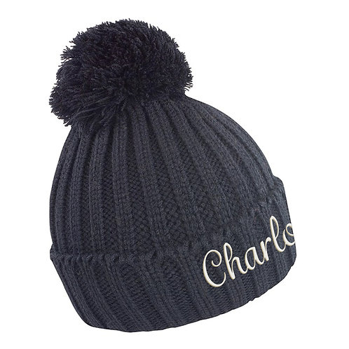 Personalised Name HDI Quest Knitted Beanie