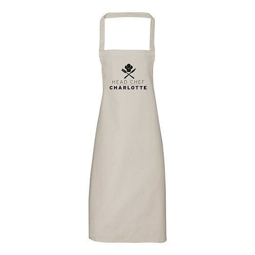Personalised Head Chef Apron (no pocket)