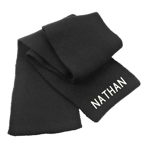 Personalised Name Heavy Knit Scarf