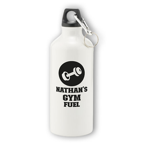 Personalised Gym Aluminium Water Bottle