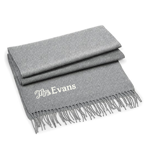 Personalised 'Mr & Mrs' Classic Woven Scarf Set