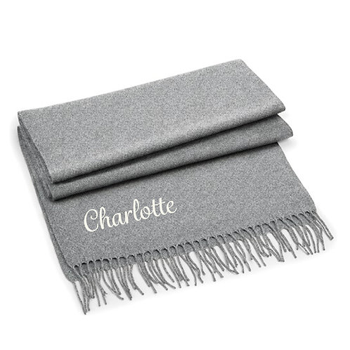 Personalised Name Classic Woven Scarf