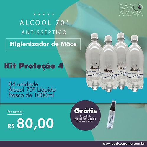 Kit Álcool 70° Proteção 4