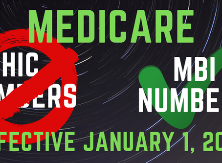 Medicare MBI Numbers: Changes Effective January 1, 2020