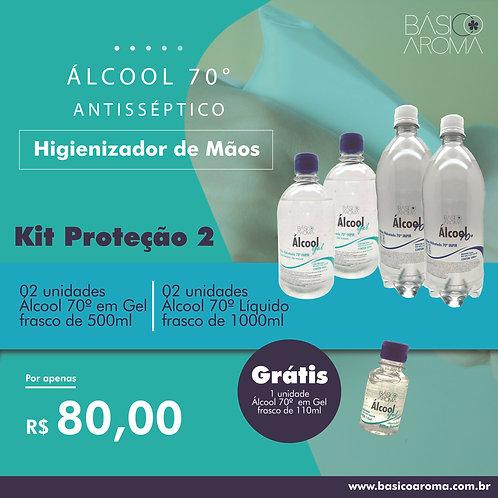 Kit Álcool 70° Proteção 2