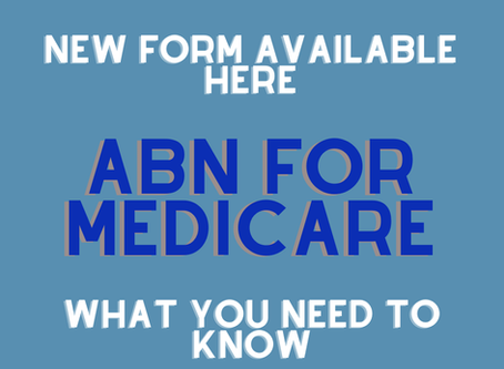 2020 - NEW ABN for MEDICARE