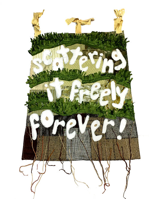 Scattering It Freely Forever Wall Banner