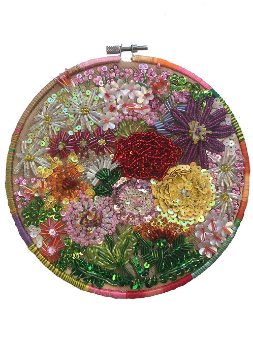 Beaded Bouquet Wall Hanging