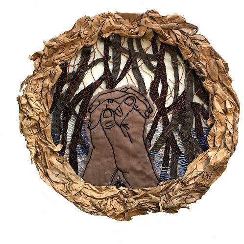 Mangrove Prayer Fiber Sculpture