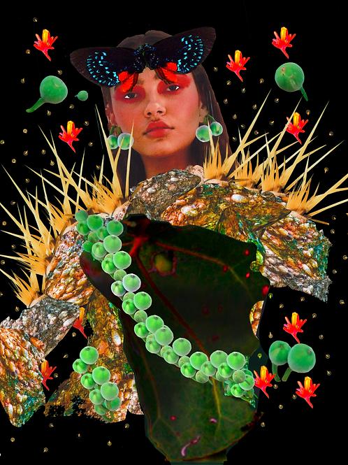 It led forward life Digital Collage Print