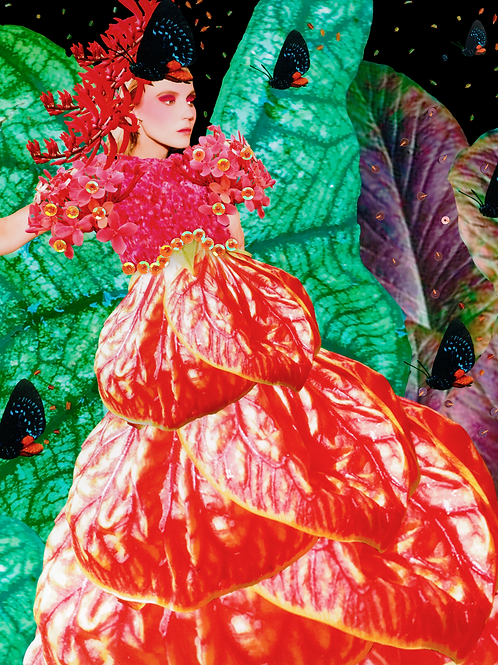 The smallest sprout Digital Collage Print