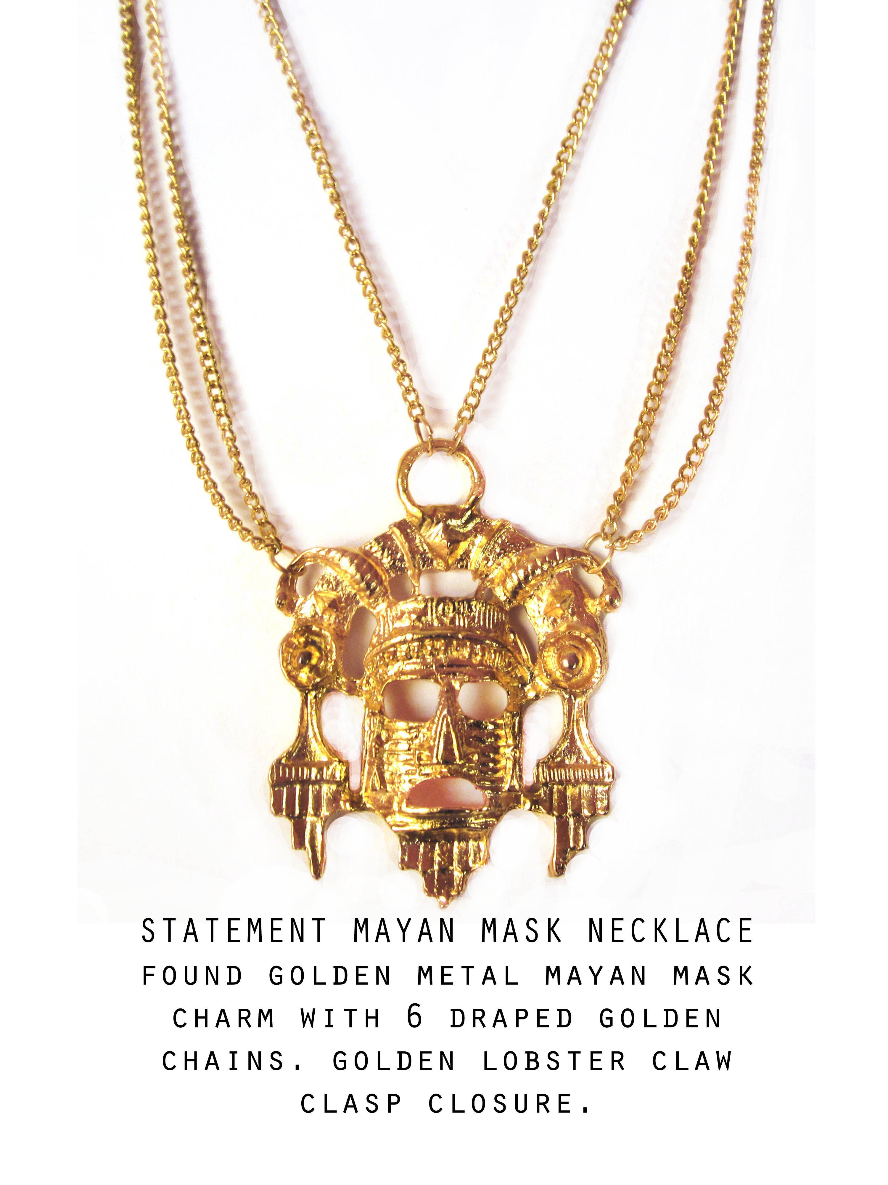 Mayan Mask Necklace