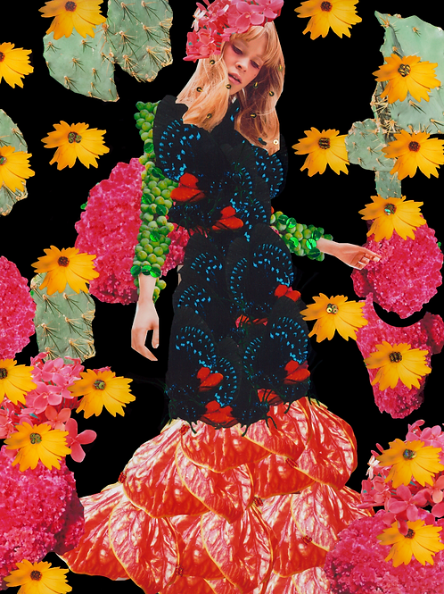 Adorning Myself Digital Collage Print