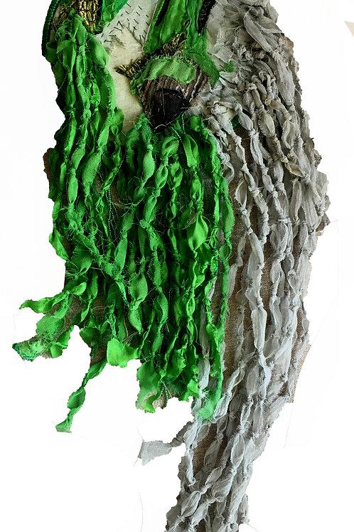 Palm Spray Fiber Sculpture