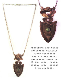 Bone and Arrowhead Necklace