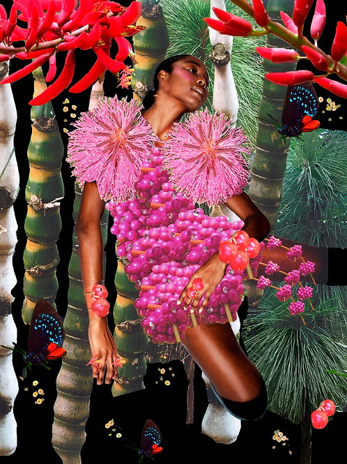 I am mad for it Digital Collage Print