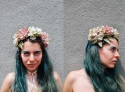 floral pastel headband w/pearls
