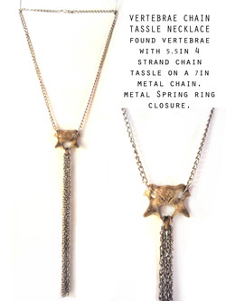 Bone and Chain Drip Necklace