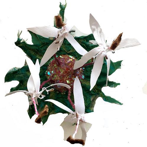 Swamp Lily Fiber Sculpture