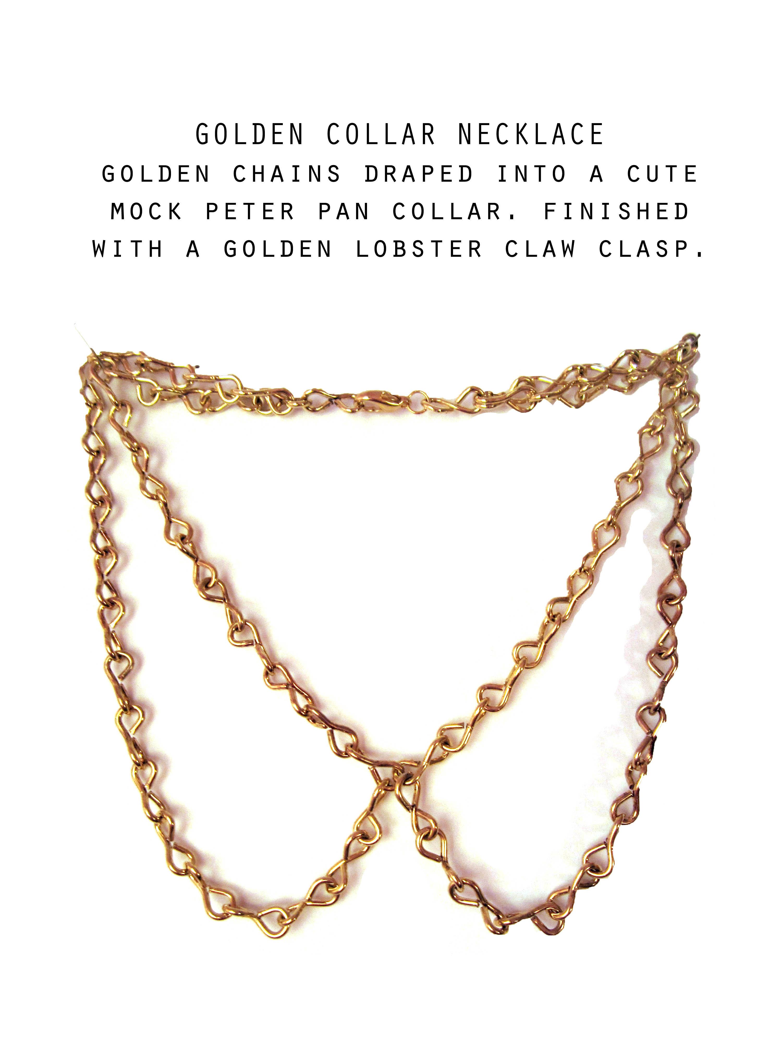 Golden Peter Pan Collar necklace