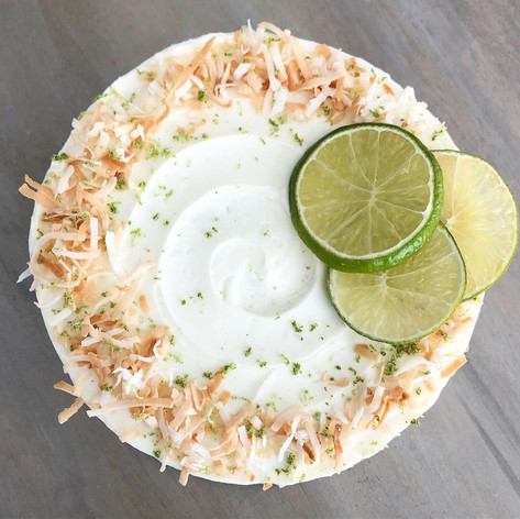 Coconut Key Lime Pie