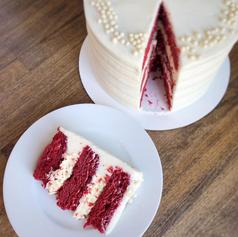 Red Velvet White Chocolate Cheesecake