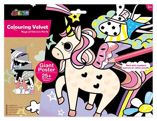 Velvet Colouring Magical Unicorn World