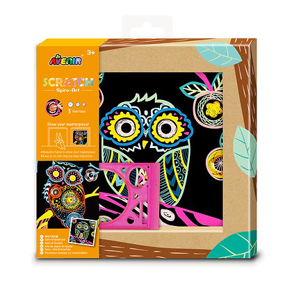 Scratch Spiro Art Owl