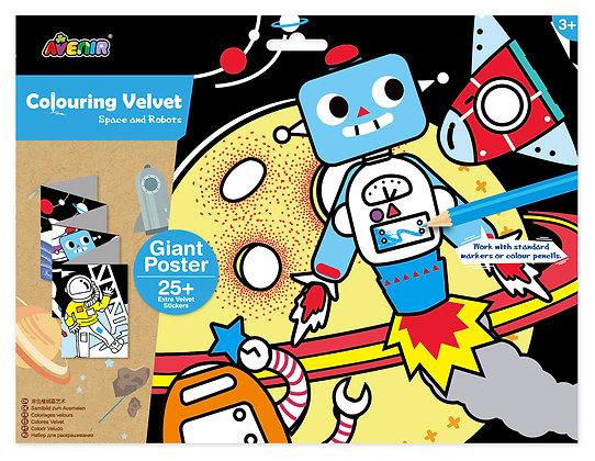 Velvet Colouring Space and Robots