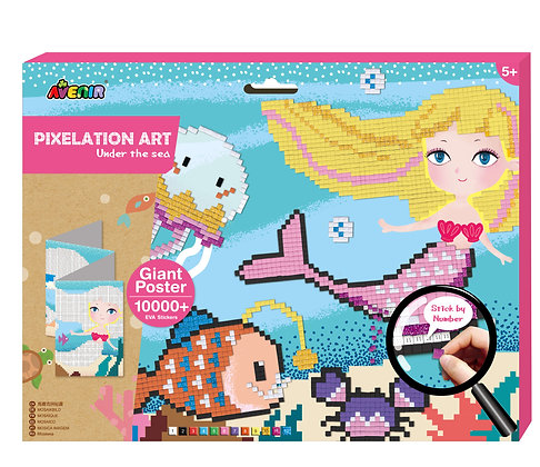 Pixelation Art Under The Sea