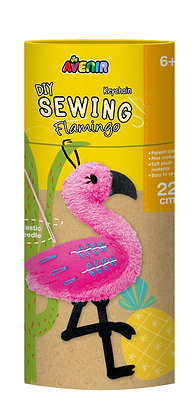 Sewing Keychain Flamingo