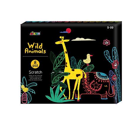 Scratch Wild Animals Gift Box