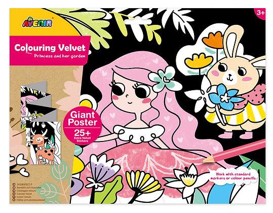 Velvet Colouring Princess and her Garden