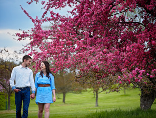 NICHOLE & RANDY, ARBORETUM ENGAGEMENT SESSION