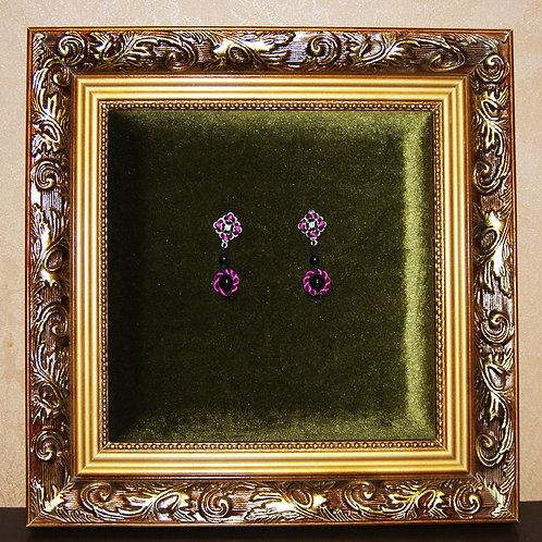 Purple Rope Earrings