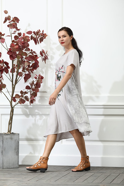 White Dress with Phoenix