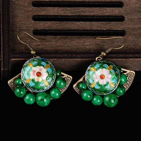 Flower Fan Earring