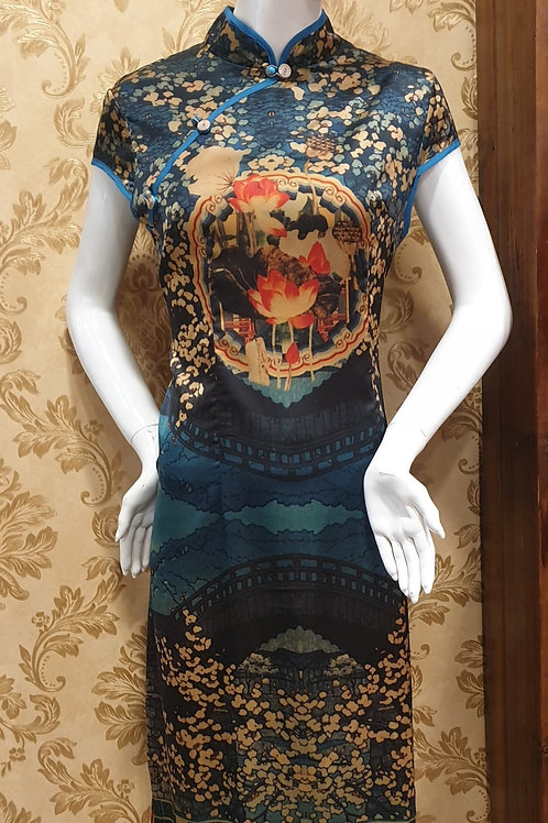 Oriental Cheongsam in Cotton