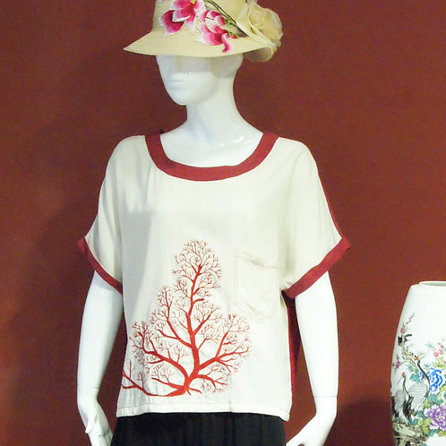 Tree Embroidery Blouse